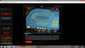Bovada Craps Table